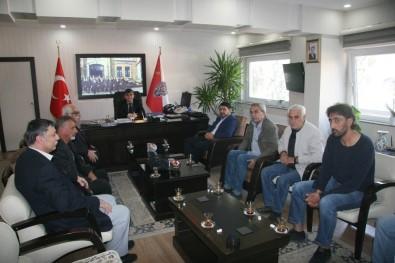 Emniyet Müdürü Karabulut'a Gazeteci Ve Yazarlardan Ziyaret