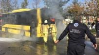 İnsan Dolu Belediye Otobüsü Alev Aldı, O Anlar Kameralara Yansıdı