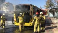 Otobüs Alev Aldı Açıklaması Şoförün Dikkati Faciayı Önledi