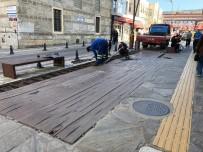 Sinop'un Sakarya Caddesi'nde Yenileme Çalışmaları