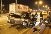 D100'de 2 Otomobil Çarpıştı Açıklaması 1 Yaralı