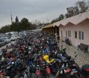 Konya'da Yakalanan Yüzlerce Motosiklet Hurda İşletmesine Gönderildi