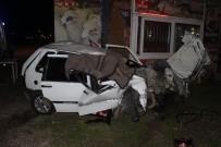 Manisa'da Otomobil Tıra Arkadan Çarptı Açıklaması 1 Ölü, 1 Yaralı