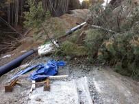 Sakarya'da Baraj İnşaatında Toprak Kaydı