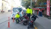 Ayvalık'ta Polisten Tescilsiz Motosiklet Ve Kasksız Sürücülere Geçit Yok