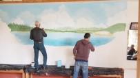TAM GÜN - Asırlık Mesire Alanı Ve Gölet, Şifalı Hamamın Duvarına Yağlı Boya İle Resimleniyor