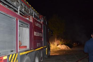Barakada Çıkan Yangın Korkuttu