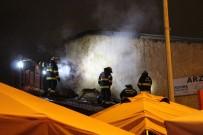 Yangında İşletmesi Hasar Gören Kadın Gözyaşlarına Hakim Olamadı