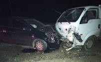 Giresun'da İki Araç Kafa Kafaya Çarpıştı Açıklaması 5 Yaralı