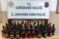 SAHTE İÇKİ - Gümüşhane'de 46 Şişe Kaçak Ve Sahte Alkol Ele Geçirildi