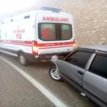 ERMENEK - Yaralı Taşıyan Ambulansa Kaza Yaptı Açıklaması 7 Yaralı