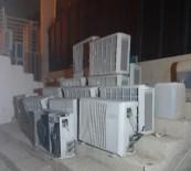 YALıKAVAK - Otelden 23 Adet Klima Çalan Hırsızlar Polisten Kaçamadı