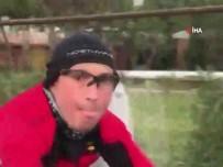 Genç Kızın Bisiklet Sürücüsü Tarafından Saldırıya Uğradığı Anlar Kamerada