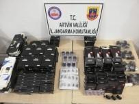 Artvin'de Gümrük Kaçağı 459 Adet, Elektronik Sigara Parçası Ele Geçirildi