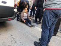Sinop'ta Otomobilin Yayaya Çarpma Anı Kamerada