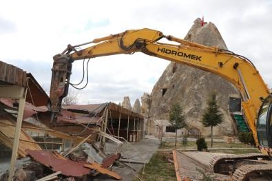 Kapadokya'da 240 Kaçak Yapı Yıkıldı