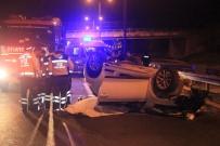 Otomobil Kamyona Arkadan Çarparak Takla Attı Açıklaması 2 Ölü, 1 Yaralı