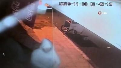 Sigara hırsızları kamerada!