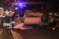 TEM'de Otomobil Kamyona Arkadan Çarparak Takla Attı. Açıklaması 2 Ölü, 1 Yaralı