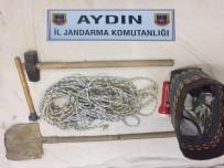 DİZÜSTÜ BİLGİSAYAR - Söke'de Kaçak Kazı Yapan 7 Şüpheli Suçüstü Yakalandı