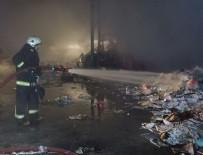 Bursa'da atık kağıt deposu yandı
