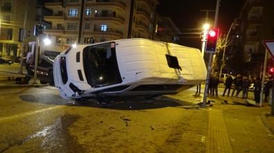 Başkent'te Servis İle Yolcu Otobüsü Çarpıştı Açıklaması 5 Yaralı