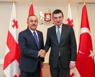 DIŞİŞLERİ BAKANLARI - Bakan Çavuşoğlu, Gürcistan Başbakanı Gakharia İle Görüştü