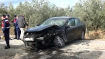 Orhangazi'de İki Otomobil Çarpıştı Açıklaması 1 Yaralı