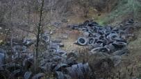 ORMANA - Ormanı Katleden Yüzlerce Lastik Görenleri Şoke Etti