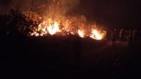 Trabzon'un Dernekpazarı İlçesi Akköse Mahallesinde De Yeni Örtü Yangını Başladı
