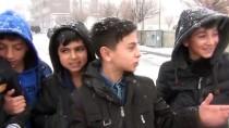 Ağrı'da Kar Yağışı Etkili Oluyor