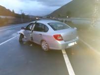 Kayganlaşan Yolda Kaza Açıklaması 1 Ölü, 3 Yaralı