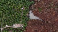 ORMANA - Şile'de Ormandaki Lastikleri Kaldırma Çalışmaları Havadan Görüntülendi