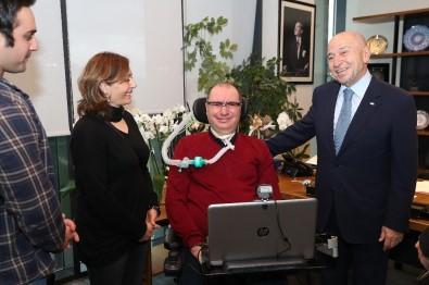 ALS MNH Derneği Başkanı İsmail Gökçek'ten Nihat Özdemir'e Ziyaret