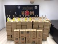 Antalya'da Yüklü Miktarda Sahte İçki Ele Geçirildi