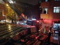 Ataşehir'de 4 Katlı Binanın Çatısında Korkutan Yangın