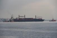 Kıyıya çarpan gemi Yenikapı sahile getirildi
