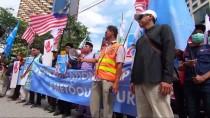 ÇIN HALK CUMHURIYETI - Malezya'da Uygur Türklerine Destek Gösterisi