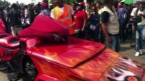 NIJERYA - Nijerya'daki Calabar Festivali'nde Motosiklet Sürücüleri Gösterileriyle Göz Doldurdu