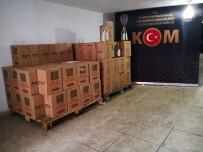 Yılbaşında Piyasa Sürülmek İstenen 726 Şişe Kaçak İçki Ele Geçirildi