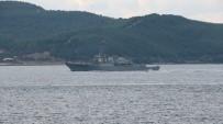 SAVAŞ GEMİSİ - Amerikan Savaş Gemisi Çanakkale Boğazı'ndan Geçti