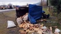 BETON MİKSERİ - Beton Mikseriyle Çarpışan Tarım Aracının Sürücüsü Yaralandı, Eşi Öldü