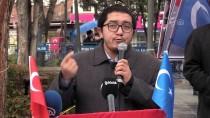 Çorum'da 'Türkistan Soykırımını Lanetliyoruz' Mitingi