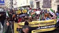 İNSANLIK SUÇU - İstanbul'da, İdlib'deki Saldırılar Protesto Edildi