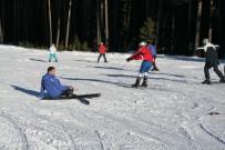 Kar Yağışıyla Birlikte Sarıkamış Kayak Merkezi Hareketlendi