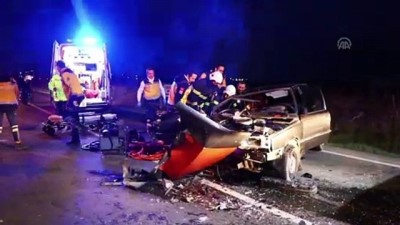 Tekirdağ'da Otomobil Tırla Çarpıştı Açıklaması 6 Yaralı