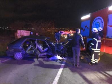 Tır İle Otomobil Çarpıştı Açıklaması 6 Yaralı