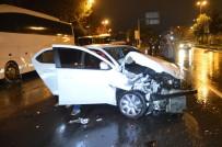 AŞIRI HIZ - Afgan Uyruklu Alkollü Sürücü Çarptığı Otomobili 300 Metre İleri Savruldu
