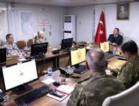 CİLVEGÖZÜ SINIR KAPISI - Bakan Akar ve TSK'nın komuta kademesinden sınırın sıfır noktasında kritik toplantı