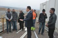 Başkan Demir,  Hayvan Pazarında Devam Eden Çalışmaları İnceledi
